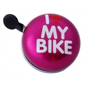 Dzwonek XXL Liix I Love My Bike różowy