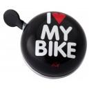 Dzwonek Liix Ding Dong I Love My Bike czarny