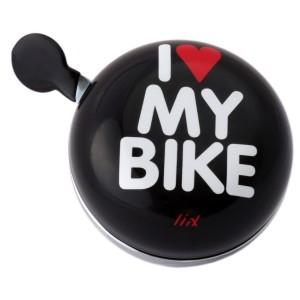 Dzwonek XXL Liix I Love My Bike czarny