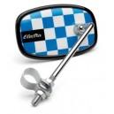 Lusterko Electra Checkerboard niebieskie