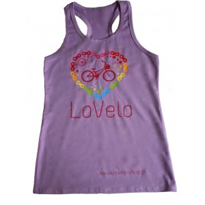 LoVeloShirt wrzosowa