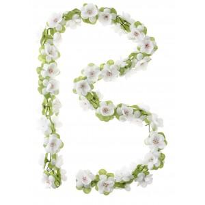Girlanda kwiatowa Basil biała