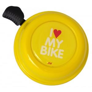Dzwonek Liix I Love My Bike żółty