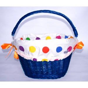 Koszyk LoVelo Big Dot niebieski