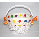 Koszyk LoVelo Big Dot biały