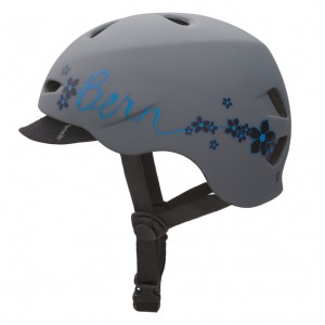 Kask Bern Berkeley Matte Grey With Flowers